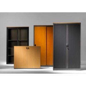 In&Office. Mobiliario oficina BVarcelona. Armarios madera oficina.