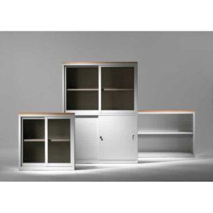 In&Office. Reforma de oficinas y tienda de muebles de oficina. Armario con puerta de vidrio