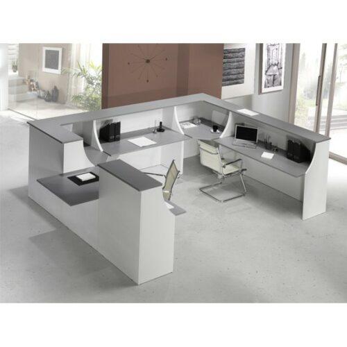 In&Office, mobiliario y reforma de oficinas en Barcelona. Mostrador para sala de espera