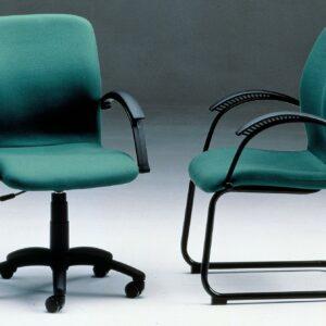 In& Office. Reforma de oficinas y tienda de muebles de oficina. Silla giratoria de oficina en color verde y negro.