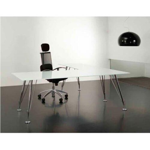 In&Office, mobiliario de oficina. Mesa de oficina operativa, cromada.